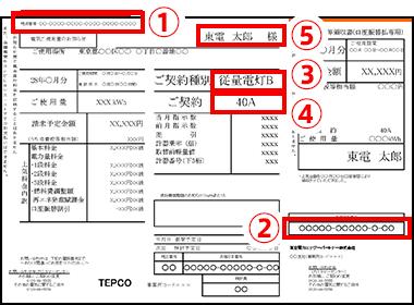 電気の検針票サンプル